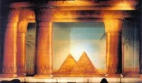 Pyramids with cut Cloth