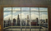 City Through Window